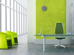 Farbakzente im Büro setzen