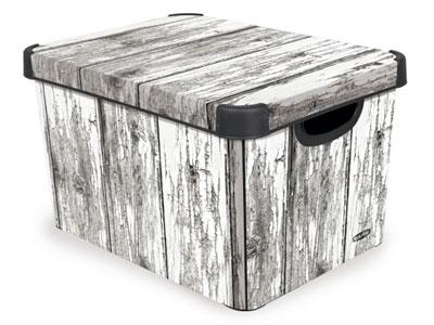 Aufbewahrungsbox Holzmuster