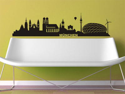 Wandtattoo Skyline München
