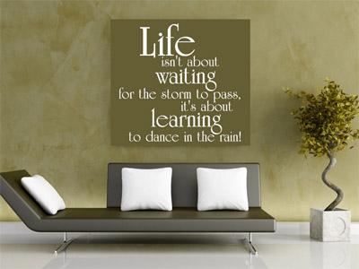 Wandtattoo Life